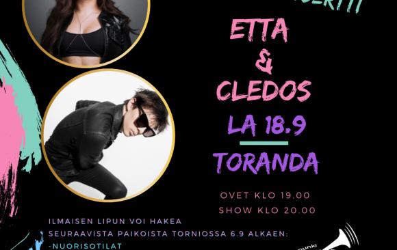 Etta ja Cledos Tornioon la 18.9.